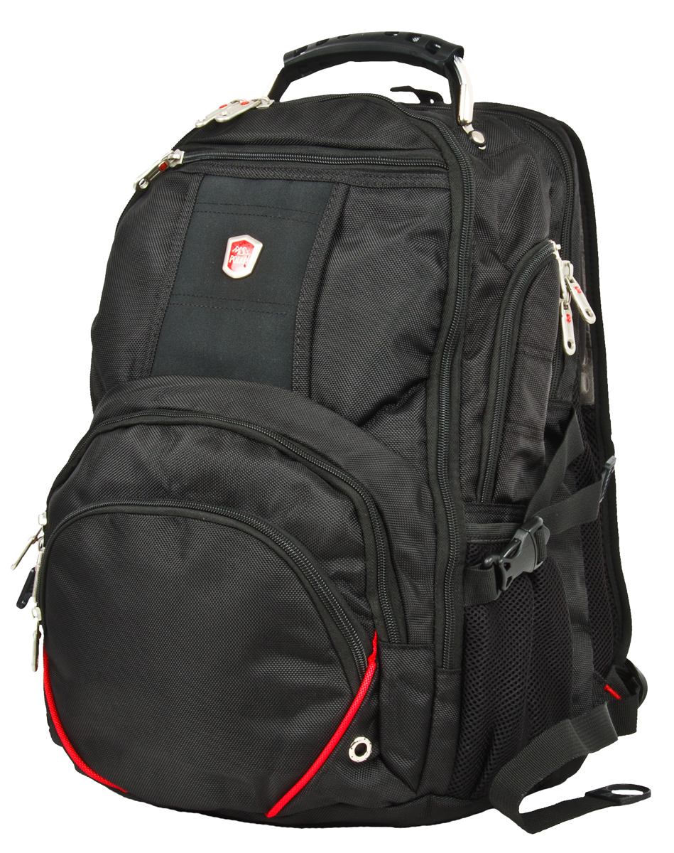 Рюкзак городской Polar, цвет: черный, 34 л. 30513051Рюкзак Polar предназначен для ноутбука. Он выполнен из полиэстера. Особенности: - В комплекте идет универсальный переходник-удлинитель для наушников 3,5 мм, выход на левой лямке рюкзака. - Система циркуляции воздуха AirFlow для комфорта и максимального удобства для спины. -Плечевые лямки анатомической формы. Прочная ручка, укрепленная внутри стальным тросом. - Отделение для ноутбука до 15 дюймов, внутри карман для MP3-плеера. - В большом отделении открытый карман для документов А4; открывается на 180 градусов. - Карман-органайзер для мелких предметов. - Съёмный карабин для ключей. - Два боковых кармана для бутылки с водой. - Петля для солнцезащитных очков. - Карман для мобильного телефона на правой лямке рюкзака. - Снаружи рюкзака три кармана на молнии.