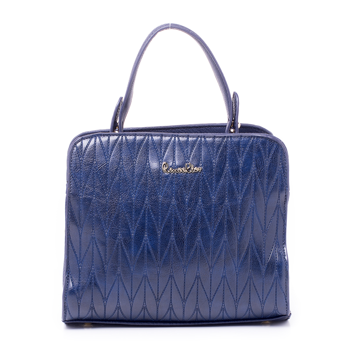 Сумка женская Renee Kler, цвет: темно-синий. RK514-06S76245Сумка Renee Kler, выполненная из высококачественной искусственной кожи, оформлена декоративным тиснением и металлической пластинкой с названием бренда. На тыльной стороне расположен вшитый карман на молнии. Сумка имеет одну ручку и съемный плечевой ремень, длина которого регулируется с помощью пряжки. Также сумка оснащена металлическими ножками, которые предотвратят повреждение дна сумки. Изделие закрывается с помощью застежки-молнии. Внутри расположено два отделения, которые содержат дванакладных открытых кармана для телефона и мелочей и один вшитый карман на молнии.В комплект входит чехол для хранения изделия.