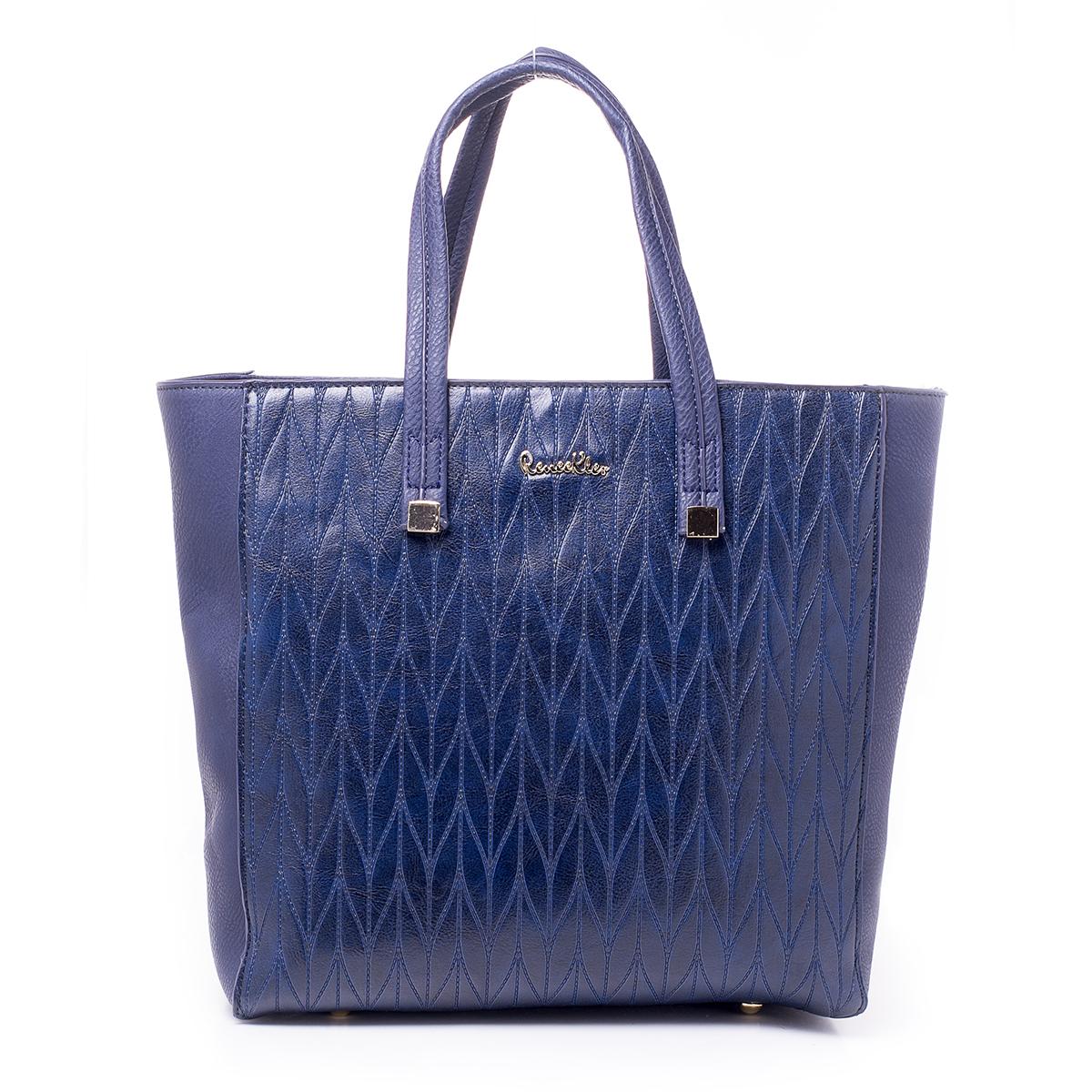 Сумка женская Renee Kler, цвет: сине-фиолетовый. RK515-06L39845800Стильная женская сумка Renee Kler выполнена из качественной искусственной кожи. Сумка оформлена оригинальным тиснением. Сумка имеет одно отделение и застегивается на молнию. Лицевая часть декорирована металлическим элементом с названием бренда. Внутри отделения находятся два накладных кармана и один врезной карман на застежке-молнии. Отделение разделено карманом-средником на застежке-молнии.Сумка оснащена двумя удобными ручками с металлической фурнитурой.