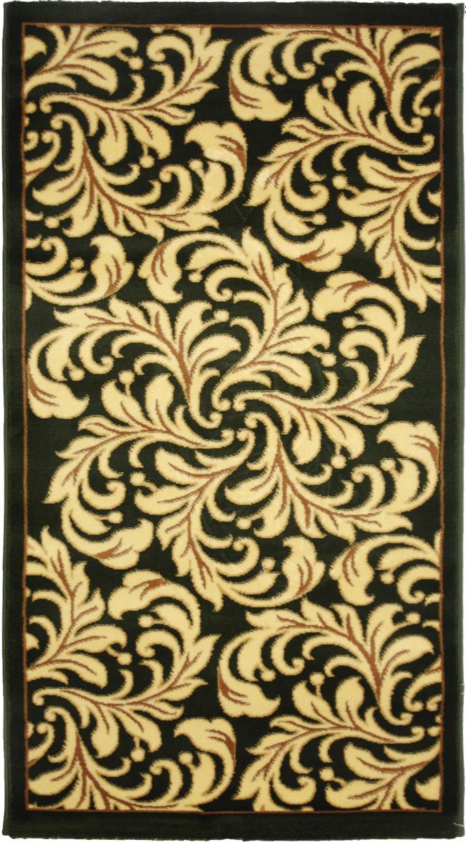 Ковер Kamalak Tekstil, прямоугольный, 80 x 150 см. УК-0322FS-91909Ковер Kamalak Tekstil изготовлен из прочного синтетического материала heat-set, улучшенного варианта полипропилена (эта нить получается в результате его дополнительной обработки). Полипропилен износостоек, нетоксичен, не впитывает влагу, не провоцирует аллергию. Структура волокна в полипропиленовых коврах гладкая, поэтому грязь не будет въедаться и скапливаться на ворсе. Практичный и износоустойчивый ворс не истирается и не накапливает статическое электричество. Ковер обладает хорошими показателями теплостойкости и шумоизоляции. Оригинальный рисунок позволит гармонично оформить интерьер комнаты, гостиной или прихожей. За счет невысокого ворса ковер легко чистить. При надлежащем уходе синтетический ковер прослужит долго, не утратив ни яркости узора, ни блеска ворса, ни упругости. Самый простой способ избавить изделие от грязи - пропылесосить его с обеих сторон (лицевой и изнаночной). Влажная уборка с применением шампуней и моющих средств не противопоказана. Хранить рекомендуется в свернутом рулоном виде.