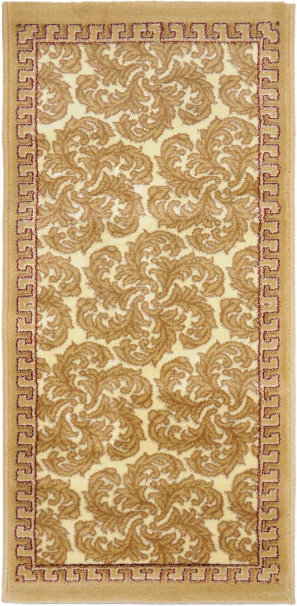 Ковер Kamalak Tekstil, прямоугольный, 50 x 100 см. УК-0494U210DFКовер Kamalak Tekstil изготовлен из прочного синтетического материала heat-set, улучшенного варианта полипропилена (эта нить получается в результате его дополнительной обработки). Полипропилен износостоек, нетоксичен, не впитывает влагу, не провоцирует аллергию. Структура волокна в полипропиленовых коврах гладкая, поэтому грязь не будет въедаться и скапливаться на ворсе. Практичный и износоустойчивый ворс не истирается и не накапливает статическое электричество. Ковер обладает хорошими показателями теплостойкости и шумоизоляции. Оригинальный рисунок позволит гармонично оформить интерьер комнаты, гостиной или прихожей. За счет невысокого ворса ковер легко чистить. При надлежащем уходе синтетический ковер прослужит долго, не утратив ни яркости узора, ни блеска ворса, ни упругости. Самый простой способ избавить изделие от грязи - пропылесосить его с обеих сторон (лицевой и изнаночной). Влажная уборка с применением шампуней и моющих средств не противопоказана. Хранить рекомендуется в свернутом рулоном виде.