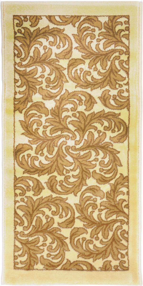 Ковер Kamalak Tekstil, прямоугольный, 50 x 100 см. УК-04996221CКовер Kamalak Tekstil изготовлен из прочного синтетического материала heat-set, улучшенного варианта полипропилена (эта нить получается в результате его дополнительной обработки). Полипропилен износостоек, нетоксичен, не впитывает влагу, не провоцирует аллергию. Структура волокна в полипропиленовых коврах гладкая, поэтому грязь не будет въедаться и скапливаться на ворсе. Практичный и износоустойчивый ворс не истирается и не накапливает статическое электричество. Ковер обладает хорошими показателями теплостойкости и шумоизоляции. Оригинальный рисунок позволит гармонично оформить интерьер комнаты, гостиной или прихожей. За счет невысокого ворса ковер легко чистить. При надлежащем уходе синтетический ковер прослужит долго, не утратив ни яркости узора, ни блеска ворса, ни упругости. Самый простой способ избавить изделие от грязи - пропылесосить его с обеих сторон (лицевой и изнаночной). Влажная уборка с применением шампуней и моющих средств не противопоказана. Хранить рекомендуется в свернутом рулоном виде.
