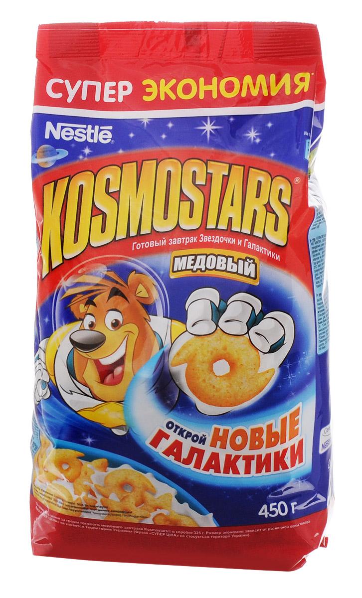 Nestle Kosmostars Медовые звездочки и галактики готовый завтрак в пакете, 450 г0120710Готовый завтрак Nestle Kosmostars Медовый. Звездочки и Галактики – полезный, быстрый и вкусный способ получить заряд позитива и энергии на все утро, как для юных космонавтов, так и для их родителей.Содержит цельные злаки, натуральный мед, витамины и минеральные вещества. Теперь готовый завтрак Kosmostars стал еще полезнее, так как он содержит витамин Д и кальций, которые необходимы для построения костей и зубов в детском и подростковом возрасте, а также для поддержания их здоровья в течение всей жизни.Продукт может содержать незначительное количество молока.