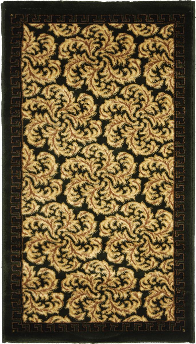 Ковер Kamalak Tekstil, прямоугольный, 60 x 110 см. УК-0294WUB 5647 weisКовер Kamalak Tekstil изготовлен из прочного синтетического материала heat-set, улучшенного варианта полипропилена (эта нить получается в результате его дополнительной обработки). Полипропилен износостоек, нетоксичен, не впитывает влагу, не провоцирует аллергию. Структура волокна в полипропиленовых коврах гладкая, поэтому грязь не будет въедаться и скапливаться на ворсе. Практичный и износоустойчивый ворс не истирается и не накапливает статическое электричество. Ковер обладает хорошими показателями теплостойкости и шумоизоляции. Оригинальный рисунок позволит гармонично оформить интерьер комнаты, гостиной или прихожей. За счет невысокого ворса ковер легко чистить. При надлежащем уходе синтетический ковер прослужит долго, не утратив ни яркости узора, ни блеска ворса, ни упругости. Самый простой способ избавить изделие от грязи - пропылесосить его с обеих сторон (лицевой и изнаночной). Влажная уборка с применением шампуней и моющих средств не противопоказана. Хранить рекомендуется в свернутом рулоном виде.