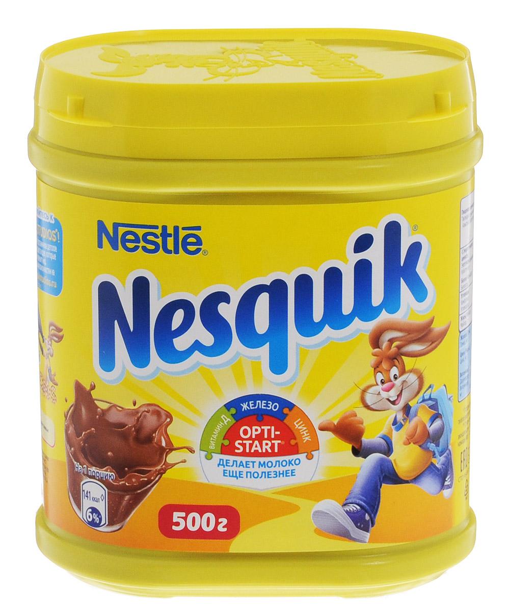 Nesquik Opti-Start какао-напиток растворимый, 500 г0120710Какао-напиток Nesquik содержит Opti-Start. Это особый комплекс витаминов и минеральных веществ, который дополняет пользу молока, обеспечивает детей и взрослых важными витаминами, макро- и микроэлементами, необходимыми для нормальной жизнедеятельности организма, а также для роста и развития детей. Комплекс содержит железо, цинк, витамины D, C и B1.Кружка какао-напитка Nesquik за завтраком поможет проснуться и поднять тонус, а благодаря молоку и комплексу Opti-Start - обеспечит поступление минеральных веществ и витаминов, для нормальной жизнедеятельности организма, а также для роста и развития детей. Какао-напиток Nesquik Opti-Start - это отличное начало дня!