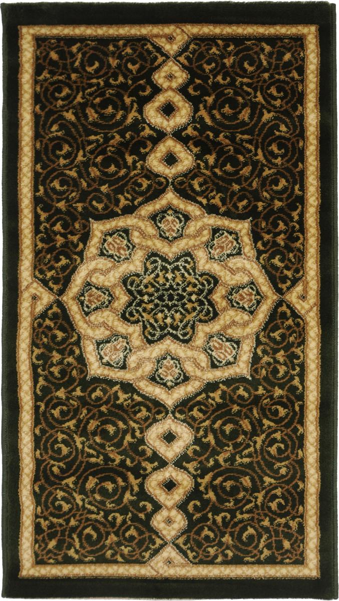Ковер Kamalak Tekstil, прямоугольный, 60 x 110 см. УК-0094ES-412Ковер Kamalak Tekstil изготовлен из прочного синтетического материала heat-set, улучшенного варианта полипропилена (эта нить получается в результате его дополнительной обработки). Полипропилен износостоек, нетоксичен, не впитывает влагу, не провоцирует аллергию. Структура волокна в полипропиленовых коврах гладкая, поэтому грязь не будет въедаться и скапливаться на ворсе. Практичный и износоустойчивый ворс не истирается и не накапливает статическое электричество. Ковер обладает хорошими показателями теплостойкости и шумоизоляции. Оригинальный рисунок позволит гармонично оформить интерьер комнаты, гостиной или прихожей. За счет невысокого ворса ковер легко чистить. При надлежащем уходе синтетический ковер прослужит долго, не утратив ни яркости узора, ни блеска ворса, ни упругости. Самый простой способ избавить изделие от грязи - пропылесосить его с обеих сторон (лицевой и изнаночной). Влажная уборка с применением шампуней и моющих средств не противопоказана. Хранить рекомендуется в свернутом рулоном виде.