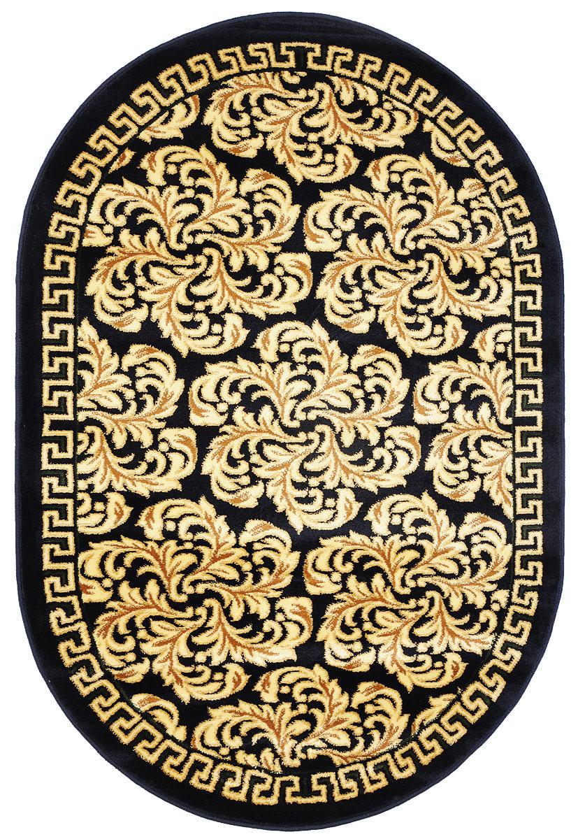 Ковер Kamalak Tekstil, овальный, 100 x 150 см. УК-02731092028Ковер Kamalak Tekstil изготовлен из прочного синтетического материала heat-set, улучшенного варианта полипропилена (эта нить получается в результате его дополнительной обработки). Полипропилен износостоек, нетоксичен, не впитывает влагу, не провоцирует аллергию. Структура волокна в полипропиленовых коврах гладкая, поэтому грязь не будет въедаться и скапливаться на ворсе. Практичный и износоустойчивый ворс не истирается и не накапливает статическое электричество. Ковер обладает хорошими показателями теплостойкости и шумоизоляции. Оригинальный рисунок позволит гармонично оформить интерьер комнаты, гостиной или прихожей. За счет невысокого ворса ковер легко чистить. При надлежащем уходе синтетический ковер прослужит долго, не утратив ни яркости узора, ни блеска ворса, ни упругости. Самый простой способ избавить изделие от грязи - пропылесосить его с обеих сторон (лицевой и изнаночной). Влажная уборка с применением шампуней и моющих средств не противопоказана. Хранить рекомендуется в свернутом рулоном виде.