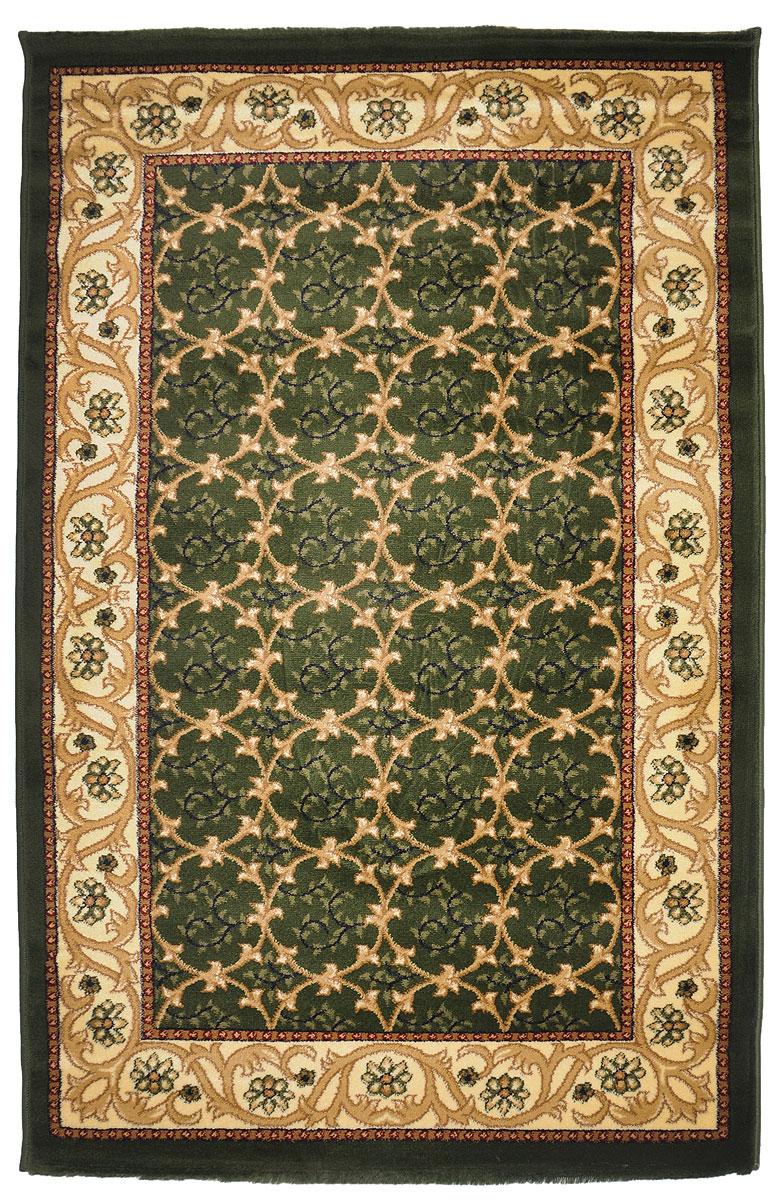 Ковер Kamalak Tekstil, прямоугольный, 100 x 150 см. УК-0218THN132NКовер Kamalak Tekstil изготовлен из прочного синтетического материала heat-set, улучшенного варианта полипропилена (эта нить получается в результате его дополнительной обработки). Полипропилен износостоек, нетоксичен, не впитывает влагу, не провоцирует аллергию. Структура волокна в полипропиленовых коврах гладкая, поэтому грязь не будет въедаться и скапливаться на ворсе. Практичный и износоустойчивый ворс не истирается и не накапливает статическое электричество. Ковер обладает хорошими показателями теплостойкости и шумоизоляции. Оригинальный рисунок позволит гармонично оформить интерьер комнаты, гостиной или прихожей. За счет невысокого ворса ковер легко чистить. При надлежащем уходе синтетический ковер прослужит долго, не утратив ни яркости узора, ни блеска ворса, ни упругости. Самый простой способ избавить изделие от грязи - пропылесосить его с обеих сторон (лицевой и изнаночной). Влажная уборка с применением шампуней и моющих средств не противопоказана. Хранить рекомендуется в свернутом рулоном виде.