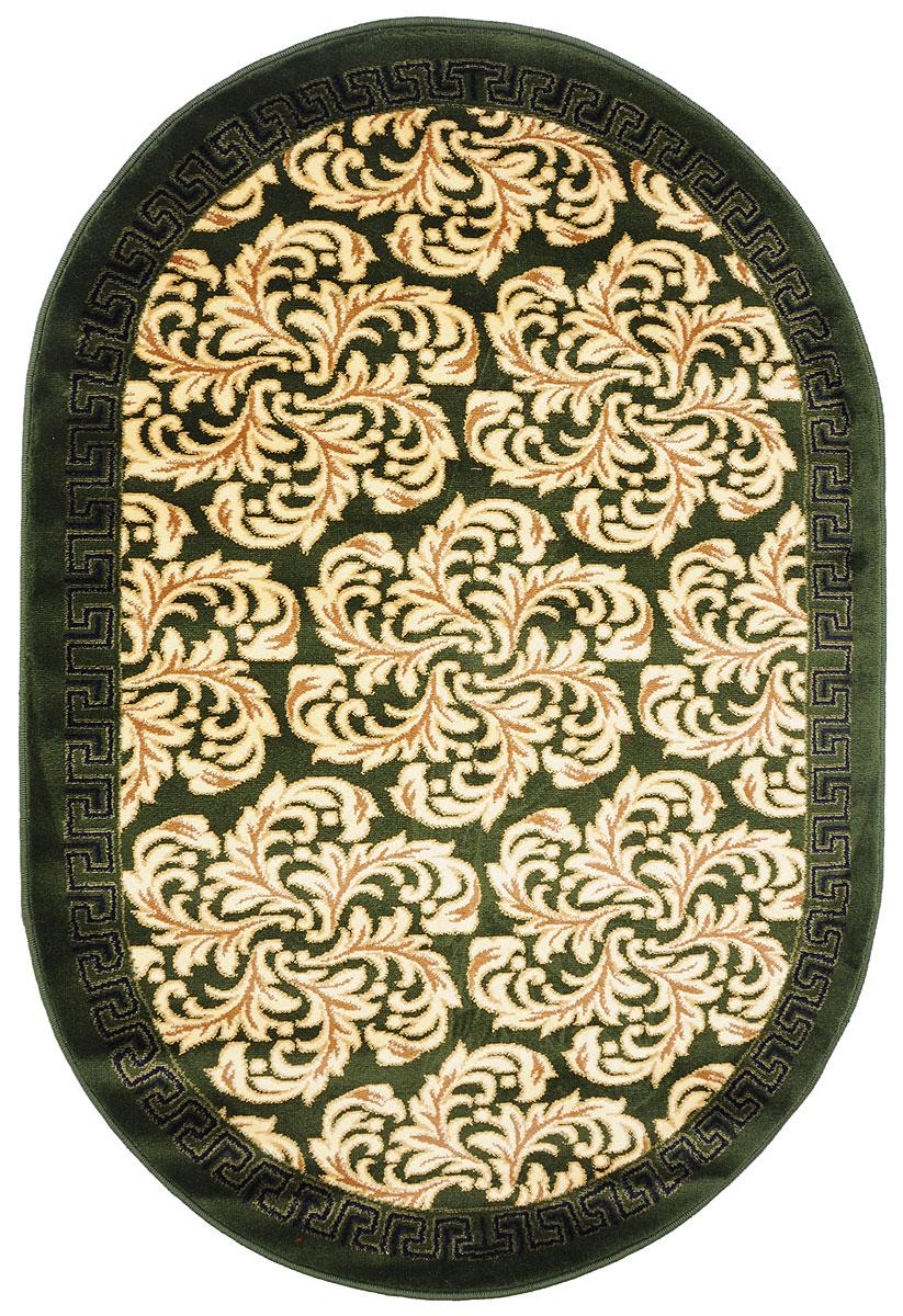 Ковер Kamalak Tekstil, овальный, 100 x 150 см. УК-0291ES-412Ковер Kamalak Tekstil изготовлен из прочного синтетического материала heat-set, улучшенного варианта полипропилена (эта нить получается в результате его дополнительной обработки). Полипропилен износостоек, нетоксичен, не впитывает влагу, не провоцирует аллергию. Структура волокна в полипропиленовых коврах гладкая, поэтому грязь не будет въедаться и скапливаться на ворсе. Практичный и износоустойчивый ворс не истирается и не накапливает статическое электричество. Ковер обладает хорошими показателями теплостойкости и шумоизоляции. Оригинальный рисунок позволит гармонично оформить интерьер комнаты, гостиной или прихожей. За счет невысокого ворса ковер легко чистить. При надлежащем уходе синтетический ковер прослужит долго, не утратив ни яркости узора, ни блеска ворса, ни упругости. Самый простой способ избавить изделие от грязи - пропылесосить его с обеих сторон (лицевой и изнаночной). Влажная уборка с применением шампуней и моющих средств не противопоказана. Хранить рекомендуется в свернутом рулоном виде.