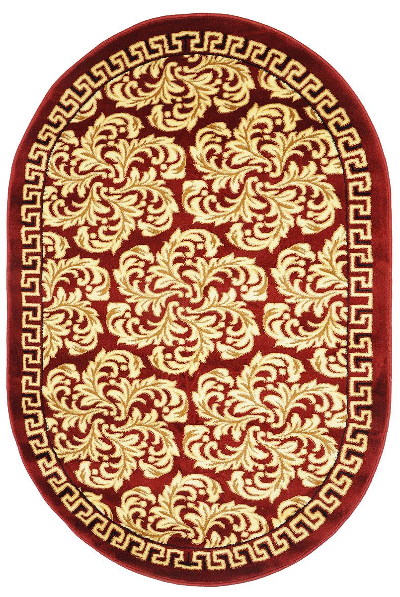 Ковер Kamalak Tekstil, овальный, 100 x 150 см. УК-0297A5700LM-8BKКовер Kamalak Tekstil изготовлен из прочного синтетического материала heat-set, улучшенного варианта полипропилена (эта нить получается в результате его дополнительной обработки). Полипропилен износостоек, нетоксичен, не впитывает влагу, не провоцирует аллергию. Структура волокна в полипропиленовых коврах гладкая, поэтому грязь не будет въедаться и скапливаться на ворсе. Практичный и износоустойчивый ворс не истирается и не накапливает статическое электричество. Ковер обладает хорошими показателями теплостойкости и шумоизоляции. Оригинальный рисунок позволит гармонично оформить интерьер комнаты, гостиной или прихожей. За счет невысокого ворса ковер легко чистить. При надлежащем уходе синтетический ковер прослужит долго, не утратив ни яркости узора, ни блеска ворса, ни упругости. Самый простой способ избавить изделие от грязи - пропылесосить его с обеих сторон (лицевой и изнаночной). Влажная уборка с применением шампуней и моющих средств не противопоказана. Хранить рекомендуется в свернутом рулоном виде.