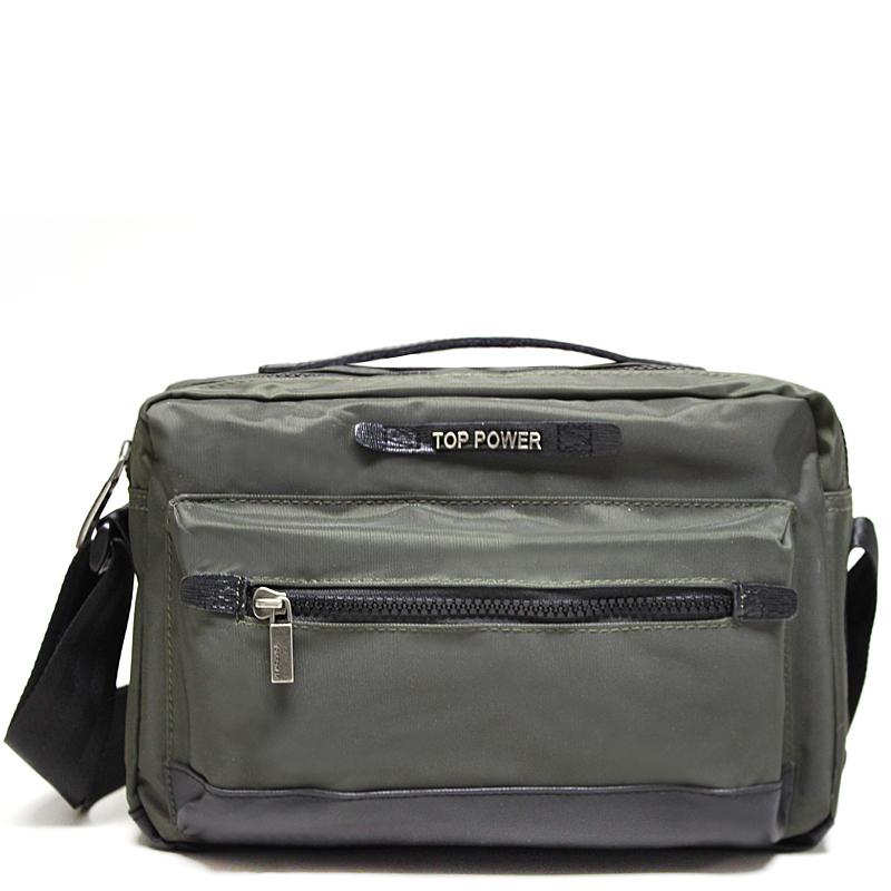 Сумка мужская Top Power, цвет: хаки, черный. 230110931-1Мужская сумка Top Power сумка закрывается на застежку-молнию. Вшитый регулируемый плечевой ремень. Удобные и стильные сумки Top Power призваны подчеркнуть ваш неповторимый стиль.