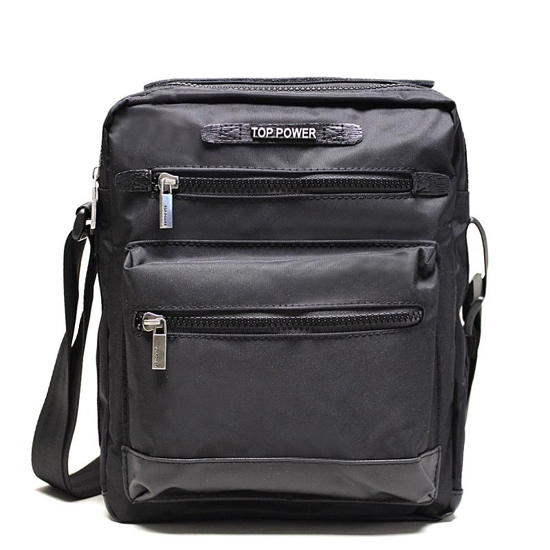 Сумка мужская Top Power, цвет: черный. 2303KV996OPY/MМужская сумка Top Power сумка закрывается на застежку-молнию.Вшитый регулируемый плечевой ремень.Удобные и стильные сумки Top Power призваны подчеркнуть ваш неповторимый стиль.