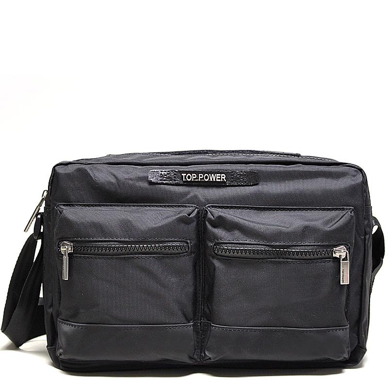 Сумка мужская Top Power, цвет: черный. 2304S76245Мужская сумка Top Power сумка закрывается на застежку-молнию.Вшитый регулируемый плечевой ремень.Удобные и стильные сумки Top Power призваны подчеркнуть ваш неповторимый стиль.