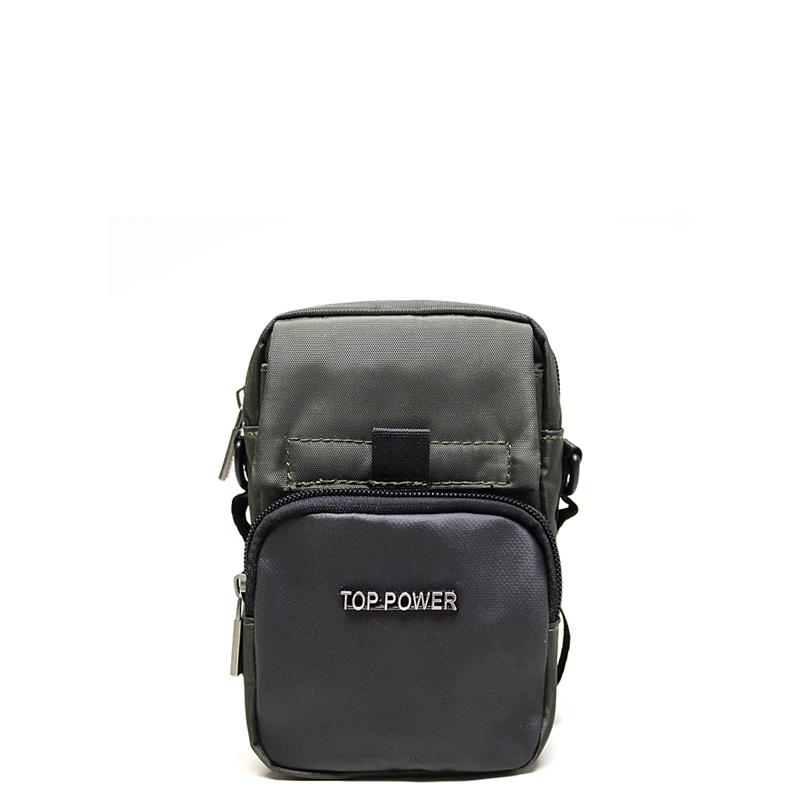 Сумка мужская Top Power, цвет: хаки, черный. 23063-47660-00504Мужская сумка Top Power сумка закрывается на застежку-молнию.Вшитый регулируемый плечевой ремень.Удобные и стильные сумки Top Power призваны подчеркнуть ваш неповторимый стиль.
