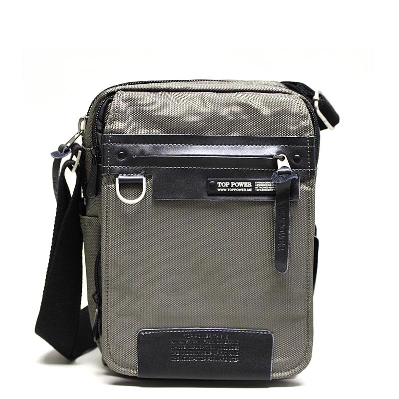 Сумка мужская Top Power, цвет: хаки, черный. 6383-47670-00504Мужская сумка Top Power сумка закрывается на застежку-молнию.Вшитый регулируемый плечевой ремень.Удобные и стильные сумки Top Power призваны подчеркнуть ваш неповторимый стиль.