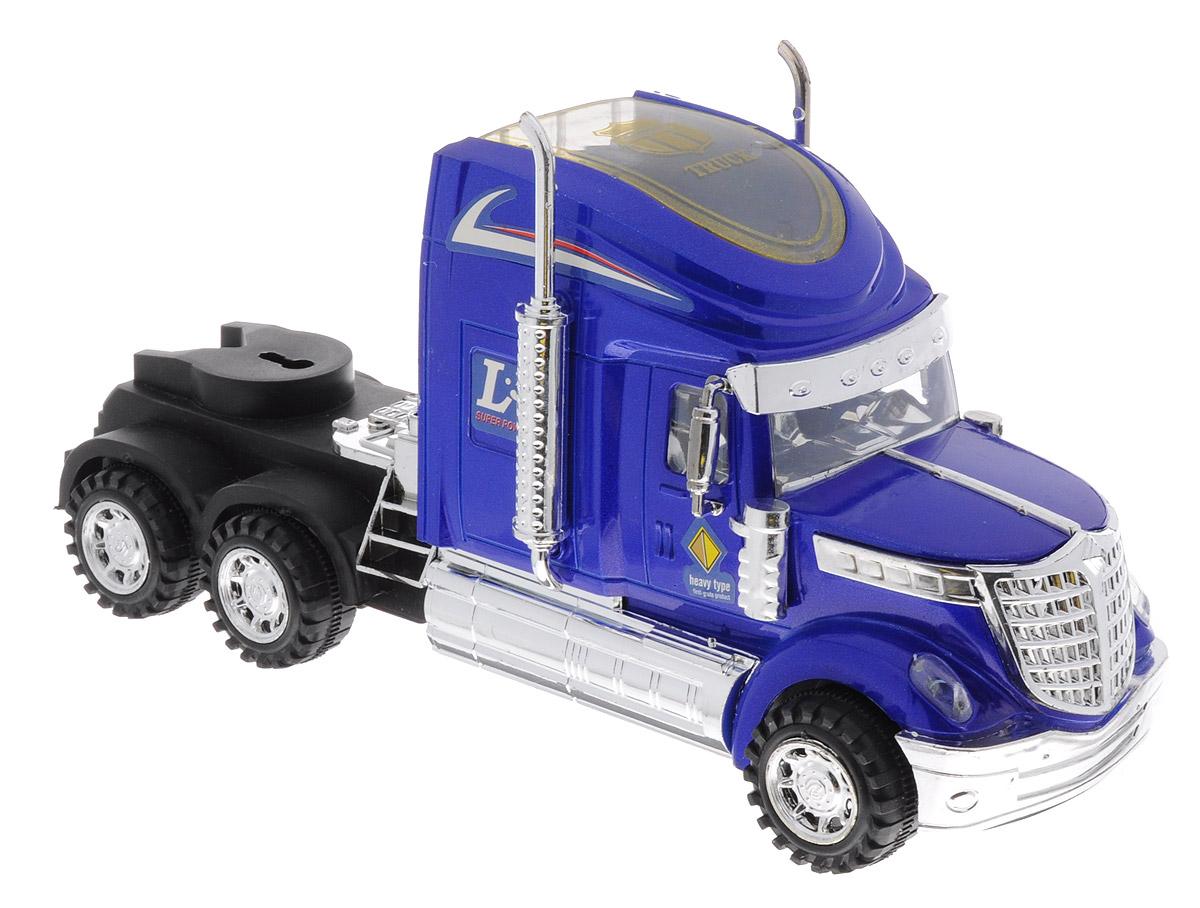 Junfa Toys Тягач инерционный цвет синий junfa toys автовоз с экскаватором и самосвалом цвет синий