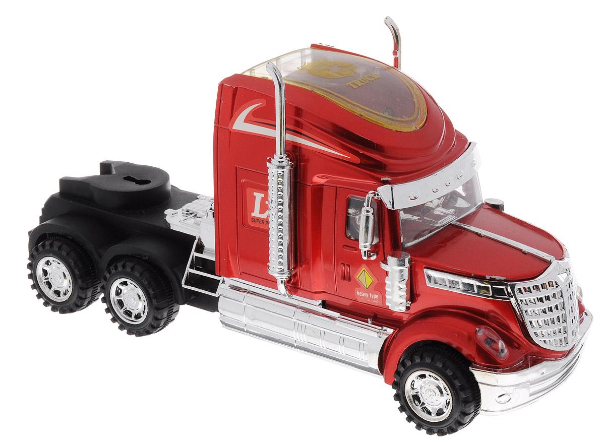Junfa Toys Тягач инерционный цвет красный junfa toys трактор инерционный ranch world цвет красный