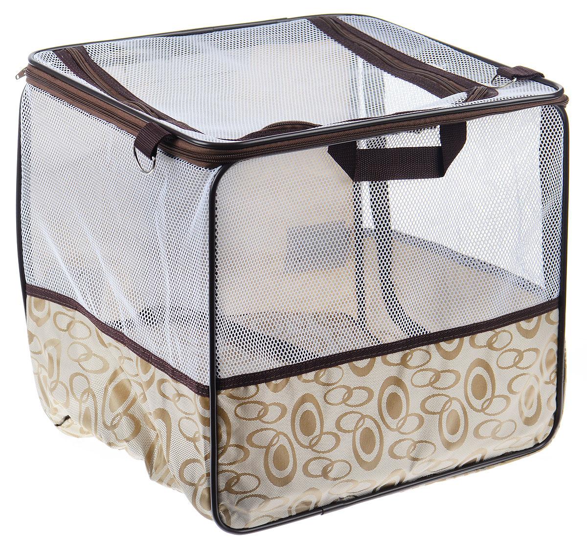Манеж для транспортировки животных Pet Fun, 40 х 35 х 37 смFS-80423Манеж Pet Fun предназначен для транспортировки животных. Также он поможет перевозить животных в автомобиле, при этом не запачкав сидений. Изделие обладает металлическим каркасом, чехол выполнен из прочного полиэстера. Наплечный ремень помогает переносить сумку на плече. Подстилка и ремень снимаются, способствуя удобной стирке. Манеж закрывается сбоку и сверху на застежку-молнию. Сетчатые вставки позволяют вашему питомцу дышать.