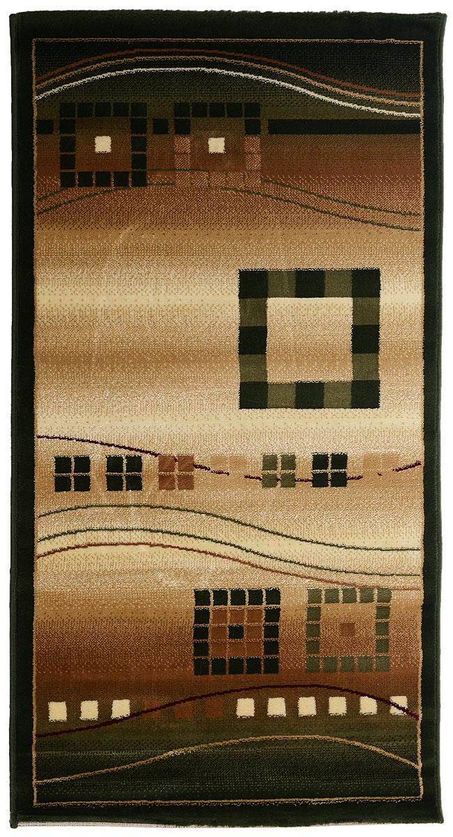 Ковер Kamalak Tekstil, прямоугольный, 80 x 150 см. УК-007874-0120Ковер Kamalak Tekstil изготовлен из прочного синтетического материала heat-set, улучшенного варианта полипропилена (эта нить получается в результате его дополнительной обработки). Полипропилен износостоек, нетоксичен, не впитывает влагу, не провоцирует аллергию. Структура волокна в полипропиленовых коврах гладкая, поэтому грязь не будет въедаться и скапливаться на ворсе. Практичный и износоустойчивый ворс не истирается и не накапливает статическое электричество. Ковер обладает хорошими показателями теплостойкости и шумоизоляции. Оригинальный рисунок позволит гармонично оформить интерьер комнаты, гостиной или прихожей. За счет невысокого ворса ковер легко чистить. При надлежащем уходе синтетический ковер прослужит долго, не утратив ни яркости узора, ни блеска ворса, ни упругости. Самый простой способ избавить изделие от грязи - пропылесосить его с обеих сторон (лицевой и изнаночной). Влажная уборка с применением шампуней и моющих средств не противопоказана. Хранить рекомендуется в свернутом рулоном виде.