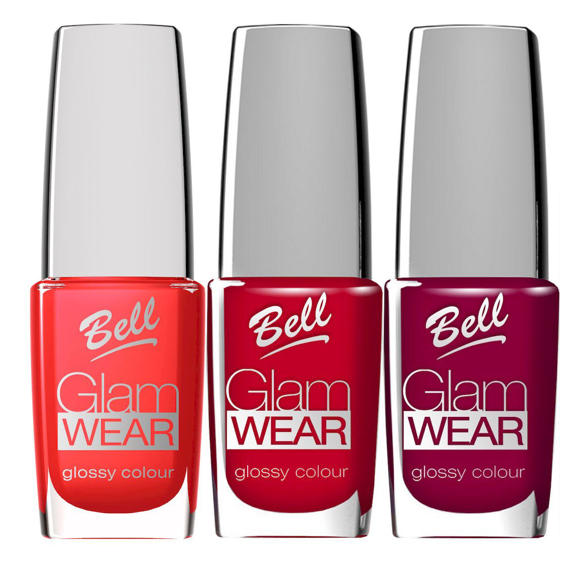 Bell Набор устойчивых лаков для ногтей с глянцевым эффектом Glam Wear Nail: тон №404 , тон №405, тон №406, 30 мл28032022Устойчивый лак для ногтей.