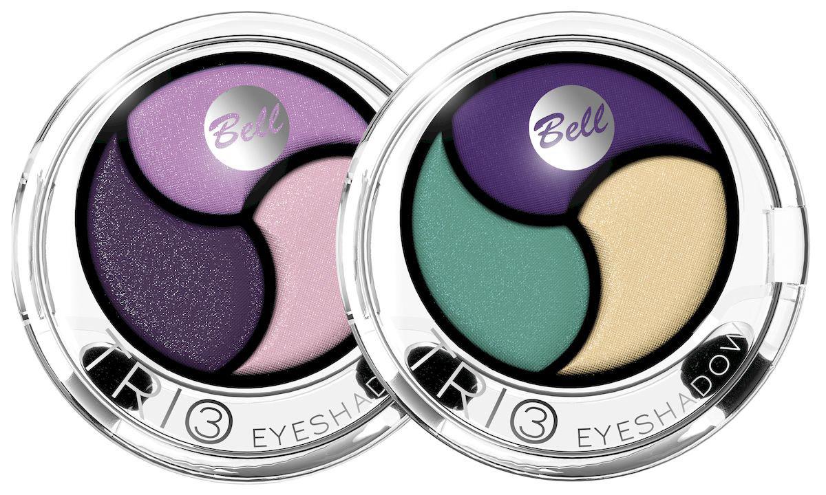 Bell Набор теней для век Trio Eyeshadow, трехцветные: тон №4, тон №5, 8 мл1092018Инновационная технология обеспечивает насыщенность цвета, удобство аппликации, а также необыкновенную стойкость. Тени содержат пигменты, которые находятся в капсуле с маслом жожоба, обладающим увлажняющими свойствами, гарантируя кремовый эффект. Тени представлены в шести цветовых наборах, которые позволят создать идеальный макияж глаз.