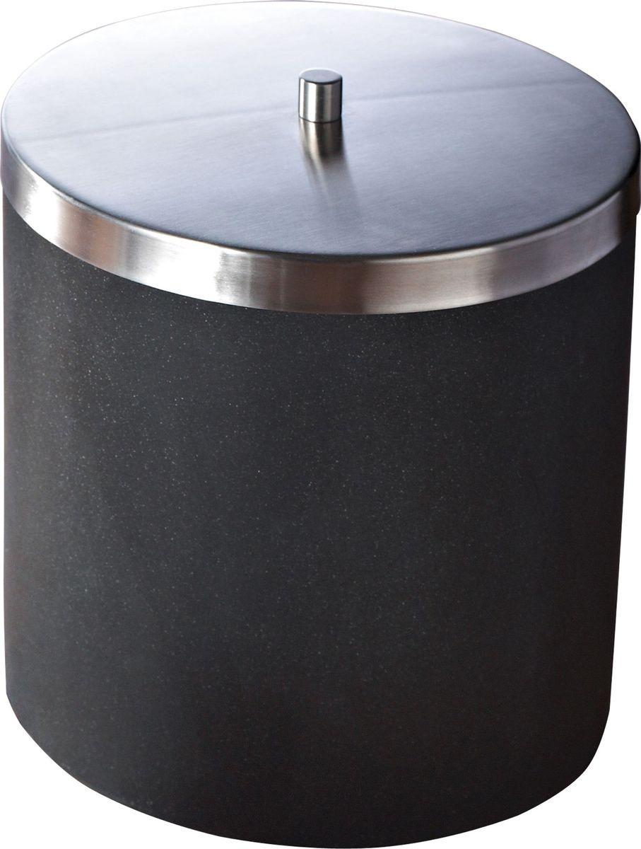 Ведро мусорное Ridder Stone, цвет: черный, 5 лZ-0307Мусорное ведро Ridder Stone изготовлено из полирезина. Экологичный полирезин - это твердый многокомпонентный материал на основе синтетической смолы с добавлением каменной крошки и красящих пигментов.Ведро для мусора Ridder - это высококачественный немецкий аксессуар для ванной комнаты.Ведро Stone устойчиво к ультрафиолету.Объем: 5 л.