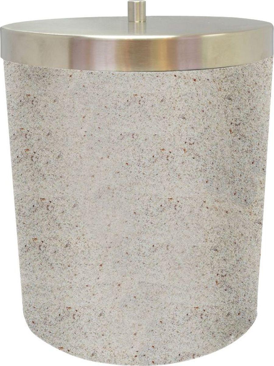 Ведро мусорное Ridder Stone, цвет: бежевый, 5 л4606400105459Изделия данной серии устойчивы к ультрафиолету,т.к. изготавливаются из добротной полирезирыЭкологичная полирезина — это твердый многокомпонентый материал на основе синтетической смолы,с добавлением каменной крошки и красящих пигментов