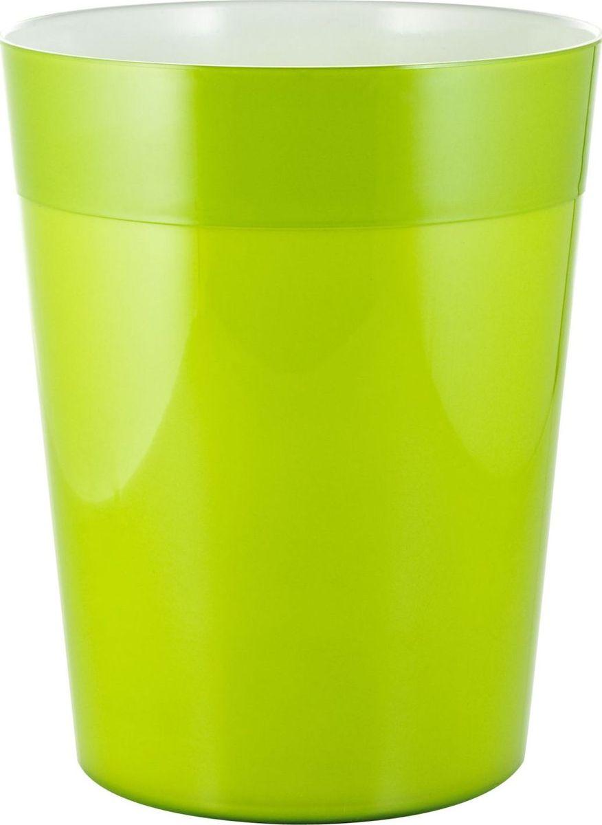 Ведро мусорное Ridder Neon, цвет: зеленый, 5 л22020605Высококачественные немецкие аксессуары для ванных комнат. Данная серия изготавливается из акрилового стекла.Объем: 5 л.