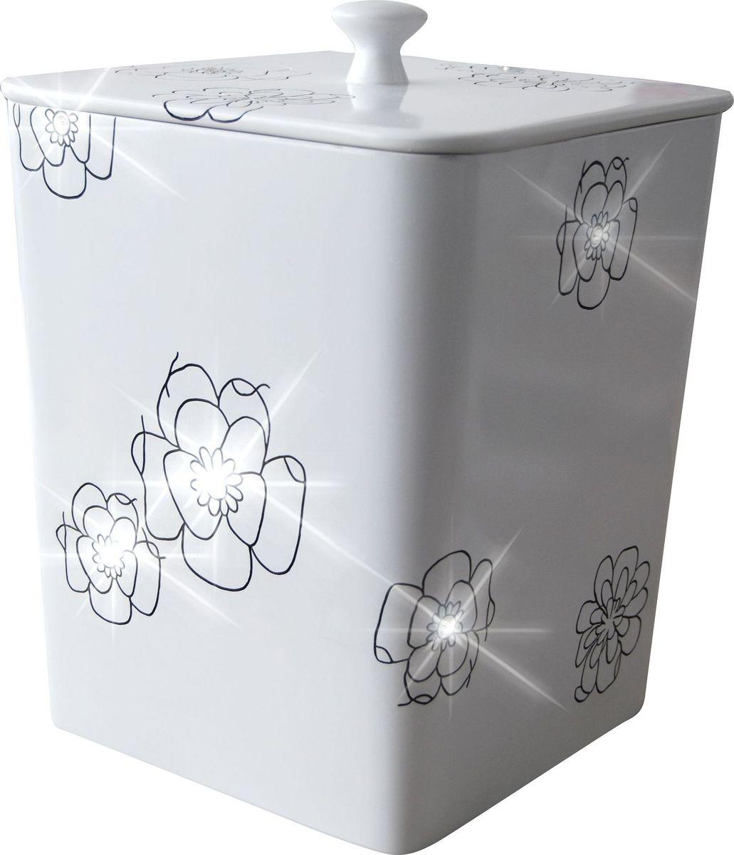 Ведро мусорное Ridder Diamond, цвет: белый, 8,5 л0380Высококачественные немецкие аксессуары для ванных комнат. Данная серия изготавливается из полирезина. Экологичный полирезин - это твердый многокомпонентный материал на основе синтетической смолы,с добавлением каменной крошки и красящих пигментов Объем: 8,5 л.