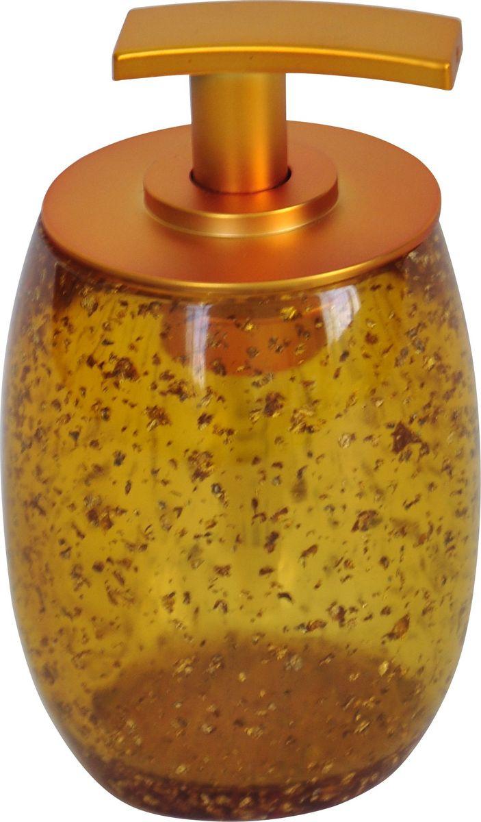 Дозатор для жидкого мыла Ridder Danzig, цвет: золотой22260524Изделия данной серии устойчивы к ультрафиолету, т.к. изготавливаются из добротной полирезины. Экологичная полирезина - это твердый многокомпонентный материал на основе синтетической смолы,с добавлением каменной крошки и красящих пигментов.