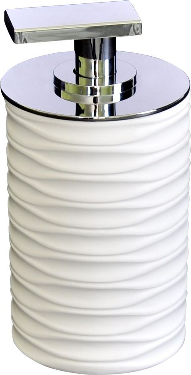 Дозатор для жидкого мыла Ridder Swing, цвет: белый41619Изделия данной серии устойчивы к ультрафиолету,т.к. изготавливаются из добротной полирезирыЭкологичная полирезина — это твердый многокомпонентый материал на основе синтетической смолы,с добавлением каменной крошки и красящих пигментов