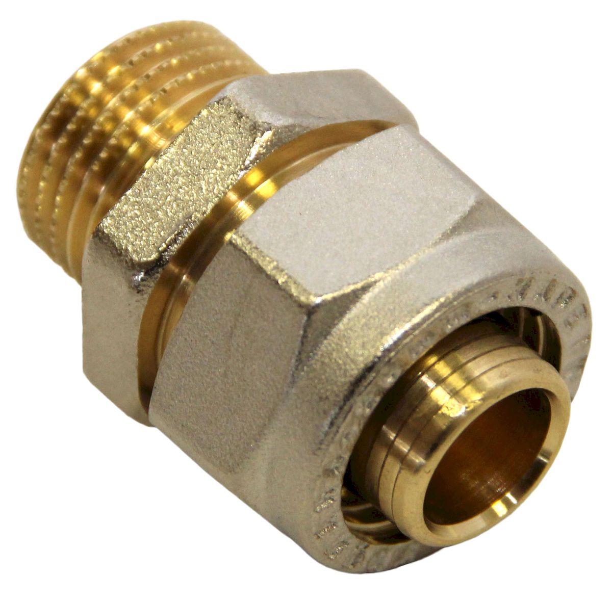 Соединитель Fornara, ц - ш, 20 x 1/2A200D-20IAСоединитель Fornara предназначен для соединения металлопластиковых труб с помощью разводного ключа. Соединение получается разъемным, что позволяет при необходимости заменять уплотнительные кольца, а также производить обслуживание участка трубопровода.