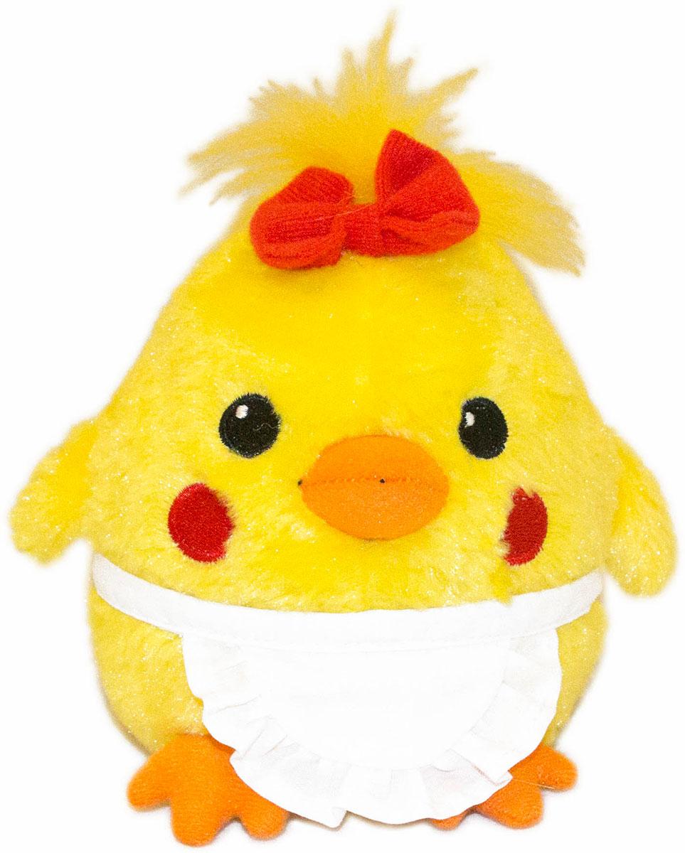 Gulliver Мягкая игрушка Цыпленок Солнышко в фартучке 12 см gulliver мягкая игрушка цыпленок солнышко в штанишках цвет желтый черный серый 12 см