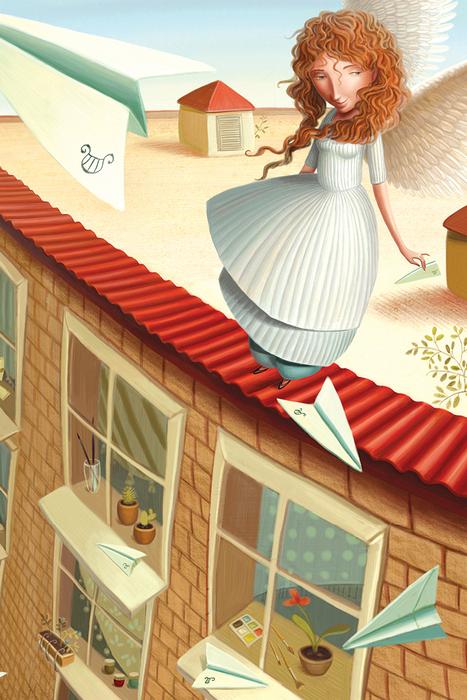 Открытка Утро. Автор Варя КолесниковаKV10-007Оригинальная дизайнерская открытка Утро из серии Музы в городе выполнена из плотного матового картона. На лицевой стороне расположена репродукция картины художницы Вари Колесниковой с изображением утренней музы, пускающей бумажные самолетики.Такая открытка станет великолепным дополнением к подарку или оригинальным почтовым посланием, которое, несомненно, удивит получателя своим дизайном и подарит приятные воспоминания.