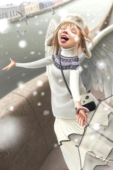 Открытка Снегу!. Автор Варя КолесниковаKV10-016Оригинальная дизайнерская открытка Снегу! из серии Музы в городе выполнена из плотного матового картона. На лицевой стороне расположена репродукция картины художницы Вари Колесниковой с изображением музы, радующейся снегу.Такая открытка станет великолепным дополнением к подарку или оригинальным почтовым посланием, которое, несомненно, удивит получателя своим дизайном и подарит приятные воспоминания.