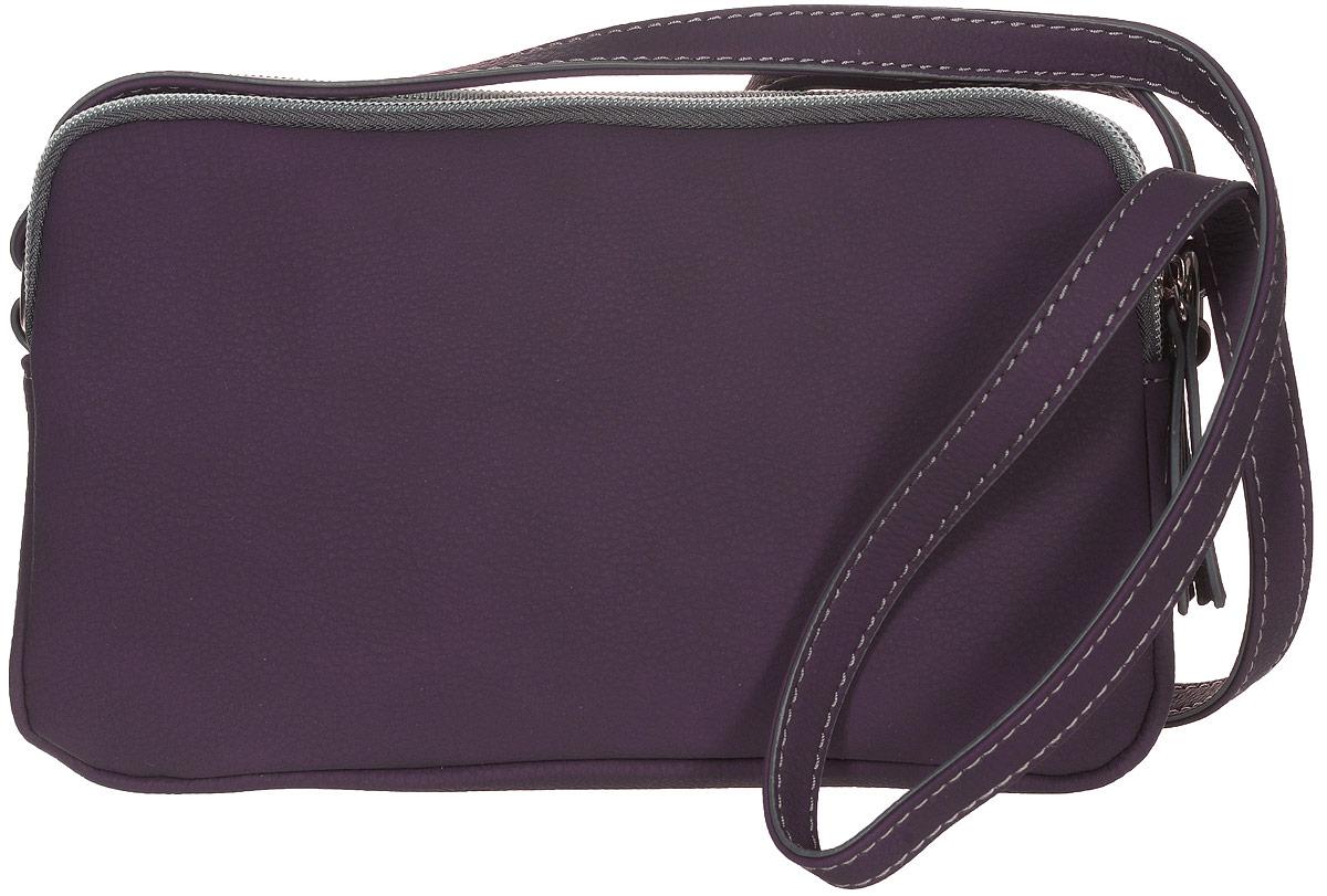 Сумка женская Jane Shilton, цвет: пурпурный. 2156A-B86-05-CСтильная женская сумка Jane Shilton не оставит вас равнодушной благодаря своему дизайну и практичности. Она изготовлена из качественной искусственной кожи. На тыльной стороне расположен удобный вшитый карман на молнии. Сумка оснащена удобным плечевым ремнем, длина которого регулируется с помощью пряжки. Изделие закрывается на удобную молнию и имеет три главных отделения. Внутри расположен вшитый карман на молнии для мелочи. Такая модная и практичная сумка завершит ваш образ и станет незаменимым аксессуаром в вашем гардеробе.