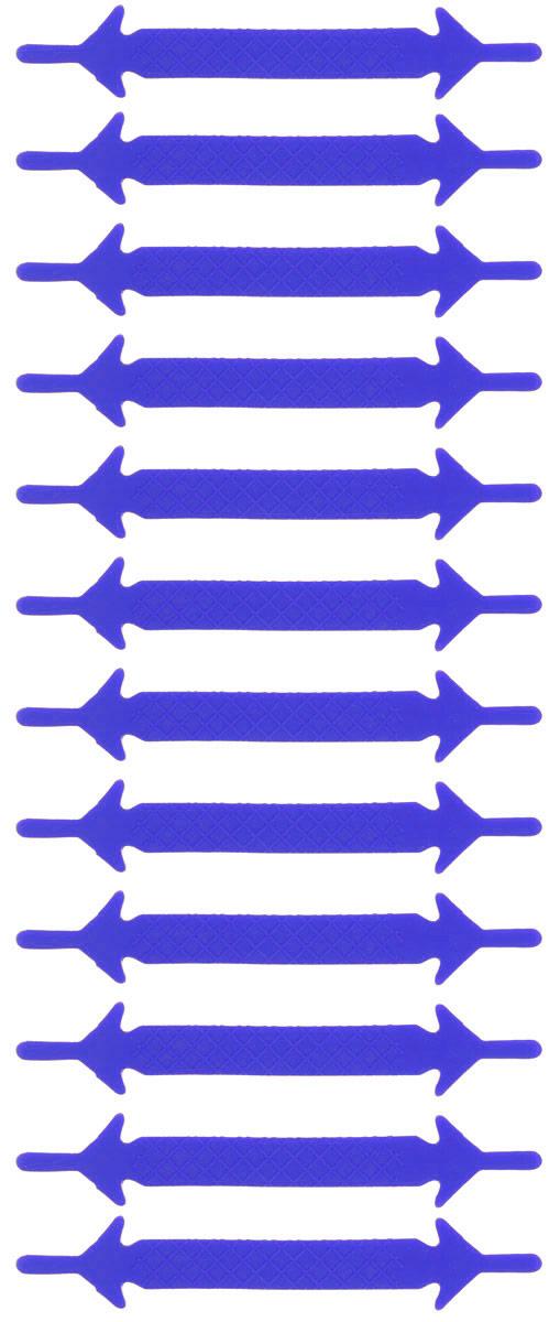 Шнурки силиконовые Hilace Group, цвет: синий, 12 штSS 4041Оригинальные силиконовые шнурки Hilace Group не оставят вас равнодушными благодаря своему яркому дизайну и практичности. Они изготовлены из качественного термостойкого силикона. Такие шнурки упростят надевание обуви и надежно зафиксируют ее без стягивания стопы, выдержат низкие и высокие температуры, подойдут как взрослым, так и детям.