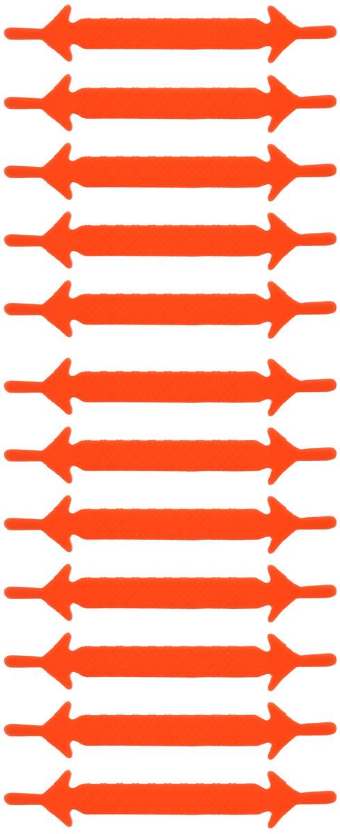 Шнурки флуоресцентные силиконовые Hilace Group, цвет: оранжевый, 12 шт54 002814Оригинальные флуоресцентные силиконовые шнурки Hilace Group не оставят вас равнодушными благодаря своему яркому дизайну и практичности. Они изготовлены из качественного термостойкого силикона. Также они обладают флуоресцентными свойствами и светятся в темноте. Такие шнурки упростят надевание обуви и надежно зафиксируют ее без стягивания стопы, выдержат низкие и высокие температуры, подойдут как взрослым, так и детям.