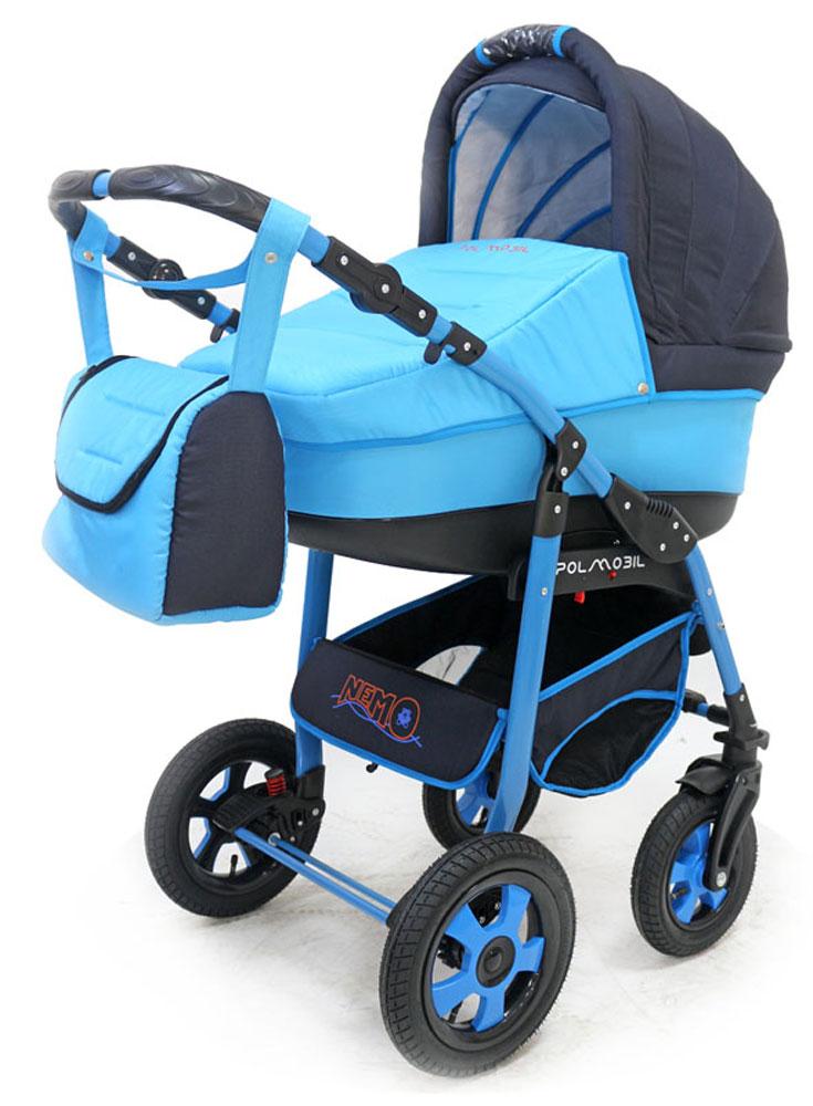 Polmobil Коляска универсальная 2 в 1 Nemo цвет голубой синий - Коляски и аксессуары