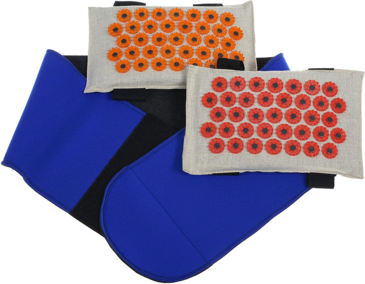Лаборатория Кузнецова Массажер-иппликатор Тибетский на мягкой подложке, с поясом, с двумя сменными мягкими подушечками. Размер L