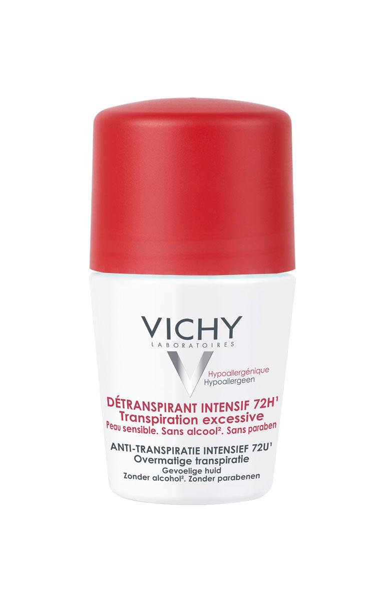 Vichy Дезодорант-антистресс 72 часа защиты, 50 млM5070900Защищает от избыточного потоотделения в стрессовых ситуациях 72 часа. Эффективность усиливается с каждым применением.