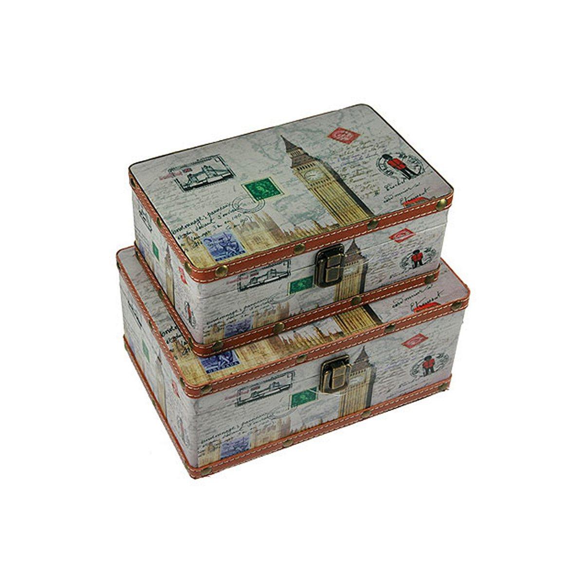 Набор сундучков Roura Decoracion, 27 х 18 х 12 см, 2 шт. 34717 набор сундучков roura decoracion 27 х 14 х 10 см 2 шт 34554