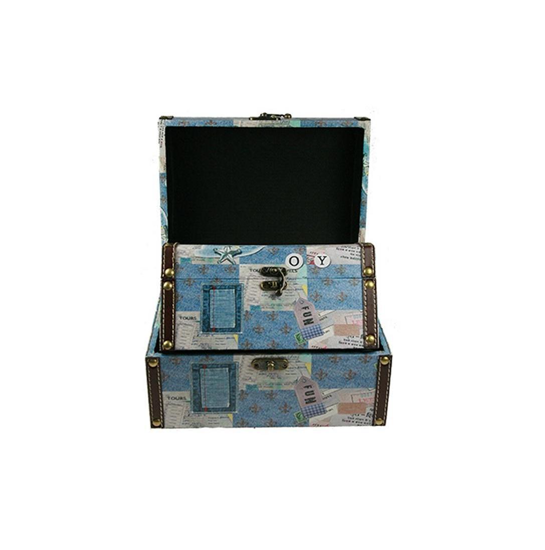 Набор сундучков Roura Decoracion, 26 х 20 х 15 см, 2 шт. 34791 набор сундучков roura decoracion 27 х 14 х 10 см 2 шт 34554