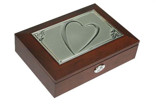 Шкатулка для ювелирных украшений Moretto Сердце, 18 х 13 х 5 см. 39601