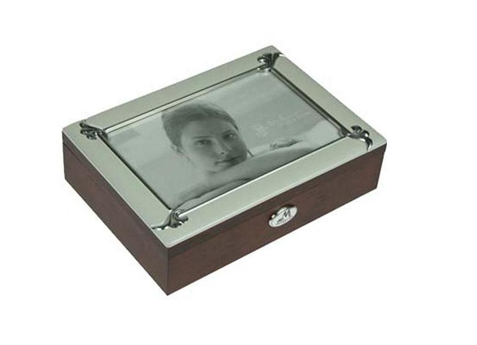Шкатулка-фоторамка для ювелирных украшений Moretto, 18 х 13 х 5 см. 39700