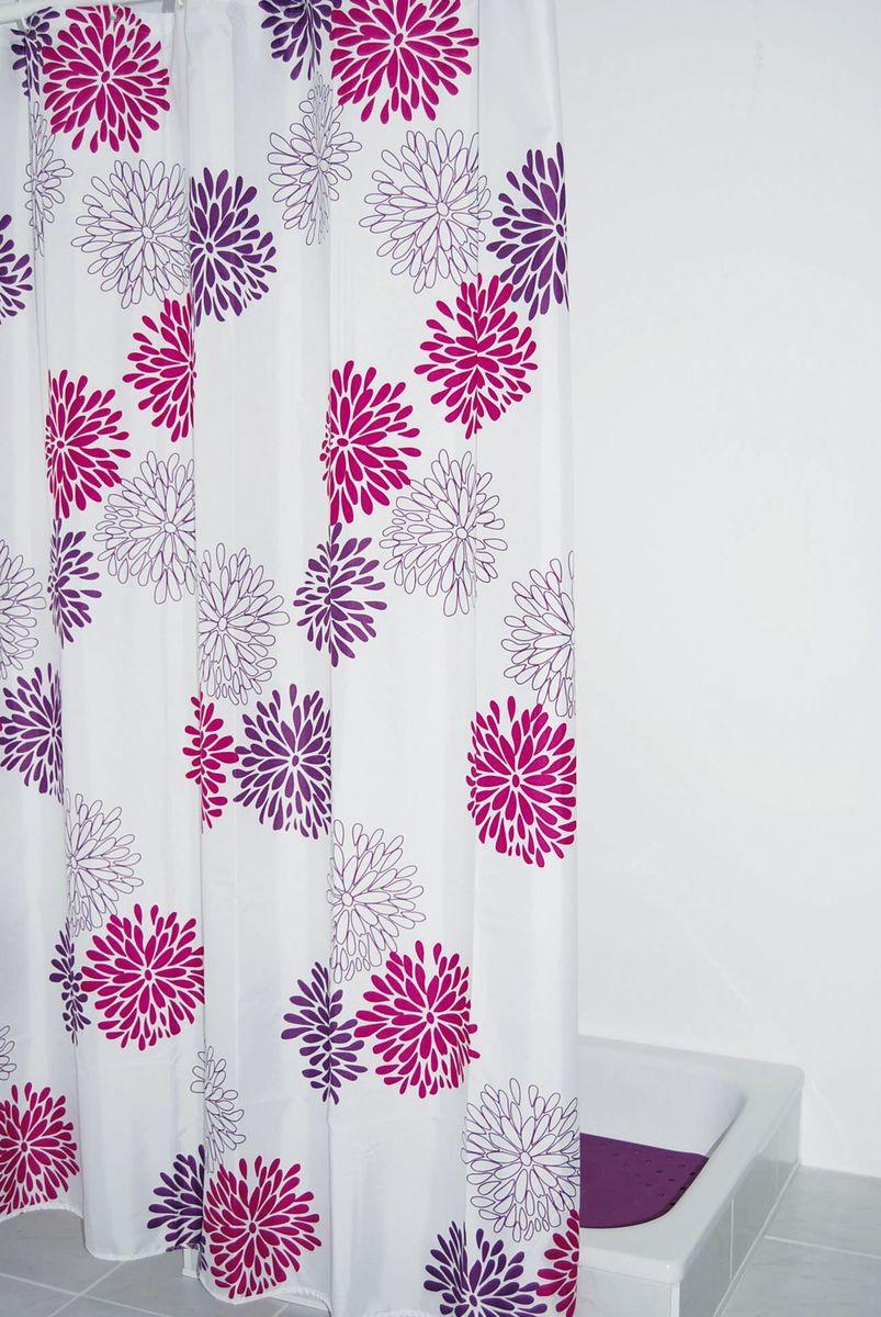 Штора для ванной комнаты Ridder  Sandra , 180 х 200 см - Шторки, кольца и карнизы для ванной