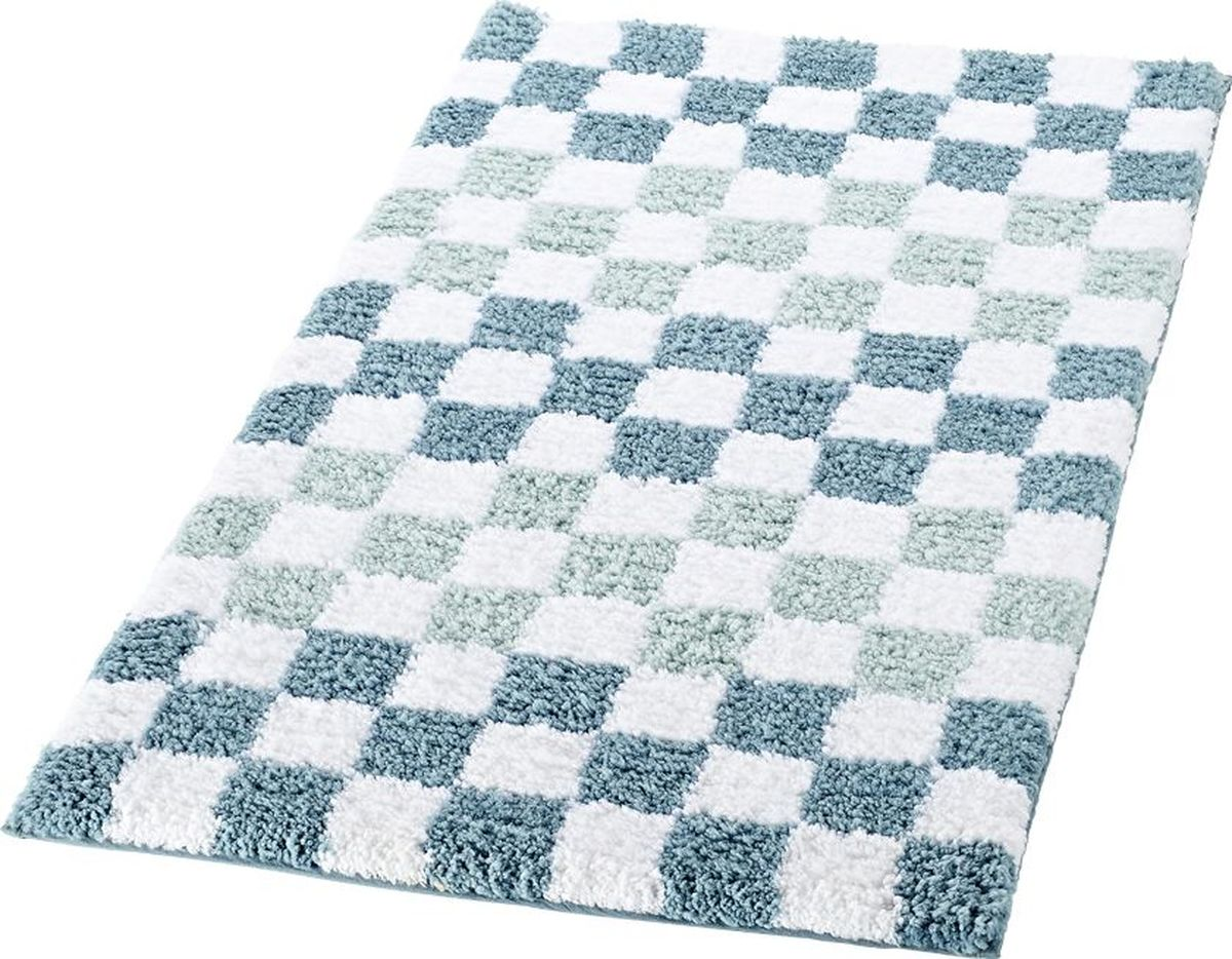 Коврик для ванной Ridder Grand Prix, цвет: белый, синий, 55 х 85 см коврик для ванной 50x50 loks цвет синий