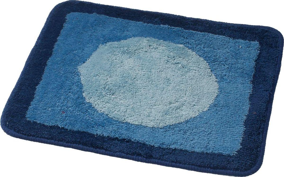 Коврик для ванной Ridder Macau, цвет: синий, голубой, 55 х 50 см коврик для ванной ridder grand prix цвет белый синий 55 х 85 см