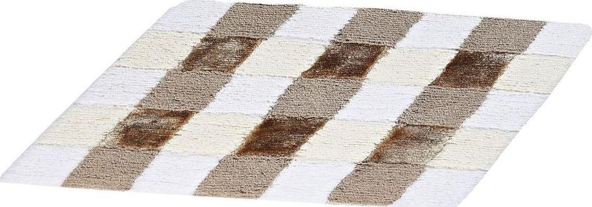 Коврик для ванной Ridder Carre, цвет: бежевый, коричневый, 55 х 50 см коврик для ванной ridder grand prix цвет белый синий 55 х 85 см