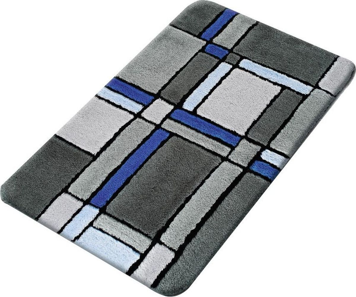 Коврик для ванной Ridder Gravure, цвет: синий, голубой, 60 х 90 см коврик для ванной ridder grand prix цвет белый синий 55 х 85 см